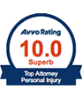 Avvo Rating 10.0 Superb | Top Attorney Personal-Injury